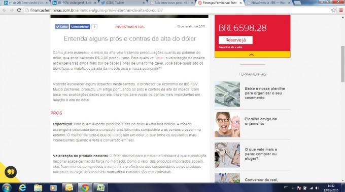 Site Finanças Femininas