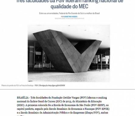 FGV No Ranking Nacional De Qualidade MEC