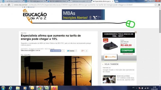 Site Rac Aumento Tarifa Energia