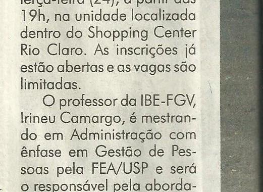 IBE Conveniada FGV Sedia Palestra Sobre Gestão De Pessoas