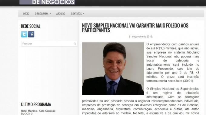 NOVO SIMPLES NACIONAL VAI GARANTIR MAIS FÔLEGO AOS PARTICIPANTES