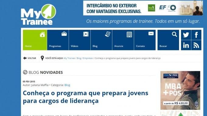 Site MyTrainee Entrevista PDE Quaresma