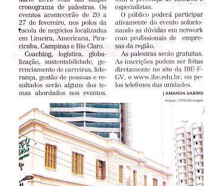 Palestras IBE Conveniada FGV No Jornal Todo Dia