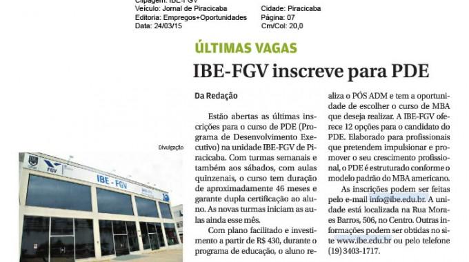 Jornal De Piracicaba Divulga Inscrições Para PDE