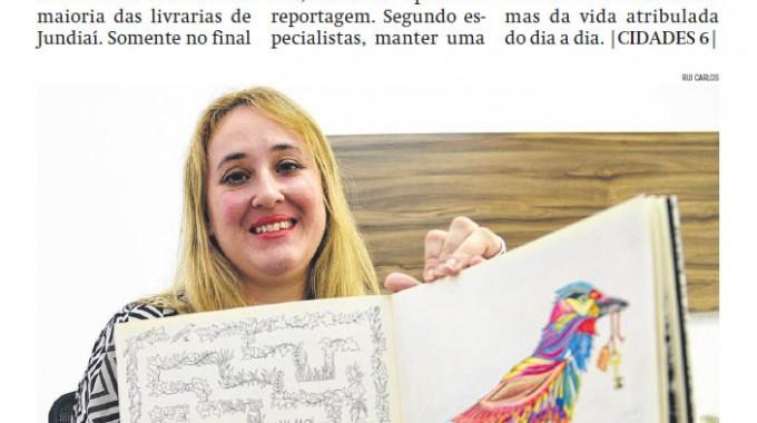 04.21.15 – Jornal De Jundiaí – Contra O Estresse, Livro De Colorir Esgotam Nas Livrarias