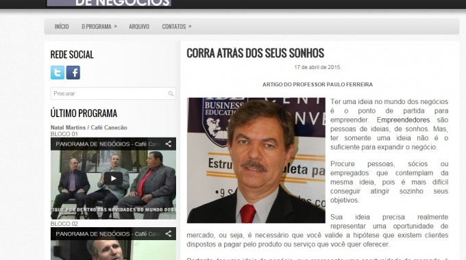 Site Panorama Paulo Ferreira Sonhos