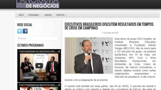 EXECUTIVOS BRASILEIROS DISCUTEM RESULTADOS EM TEMPOS DE CRISE EM CAMPINAS