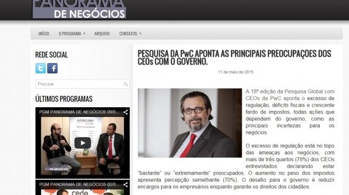 PRINCIPAIS PREOCUPAÇÕES DOS CEOs COM O GOVERNO