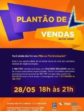 IBE Conveniada FGV Faz Ação Exclusiva Em Jundiaí