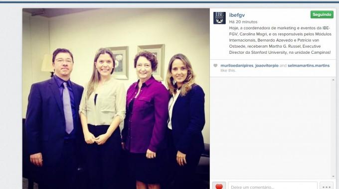 Executive Director Da Stanford University Na IBE Conveniada FGV Campinas