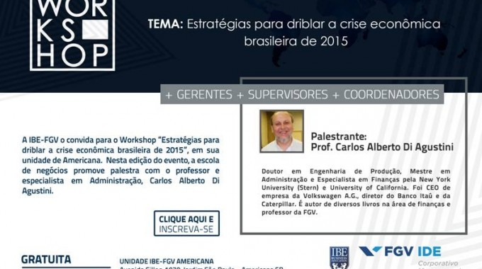 Workshop Aponta Estratégias Para Driblar A Crise