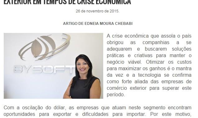 COMO A TECNOLOGIA AUXILIA AS EMPRESAS DE COMÉRCIO EXTERIOR EM TEMPOS DE CRISE ECONÔMICA