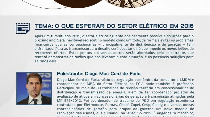 Palestra Na IBE Conveniada FGV Aborda Expectativas Do Setor Elétrico Para 2016
