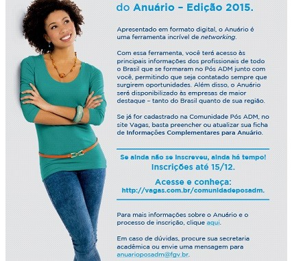 Anuário Pós Adm 2015