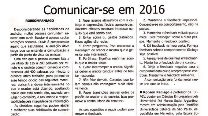 Comunicar-se Em 2016