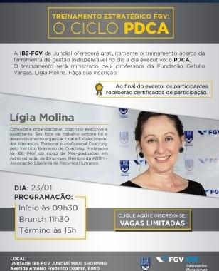 IBE Conveniada FGV Jundiaí Realiza Treinamento Gratuito Sobre PDCA