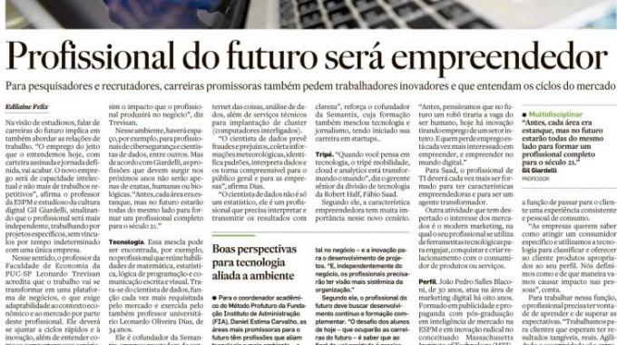 Profissional Do Futuro Será Empreendedor