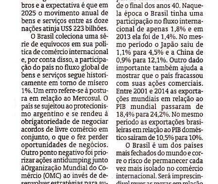Erros Da Política Comercial Brasileira E A TPP