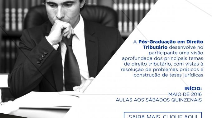 Matrículas Abertas Para Pós Em Direito Tributário Na IBE Conveniada FGV