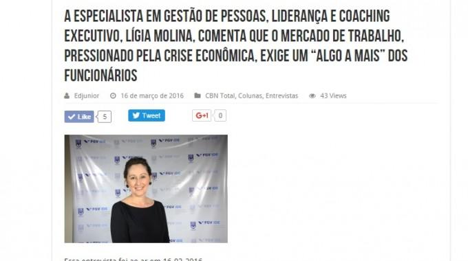 Ligia Molina Na CBN Campinas