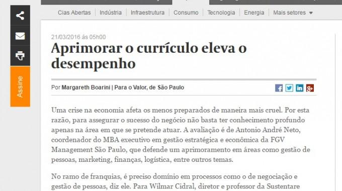 Aprimorar Curriculo E Desempenho Valor Economico Fgv