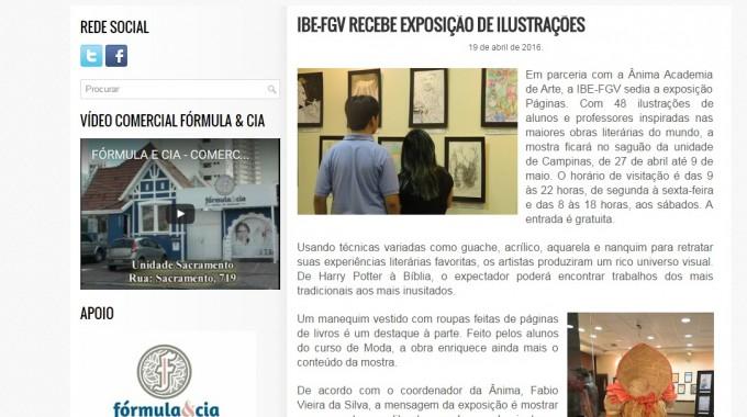 IBE Conveniada FGV RECEBE EXPOSIÇÃO DE ILUSTRAÇÕES