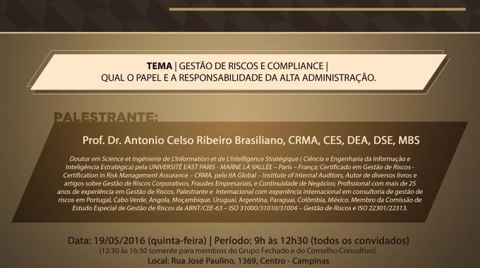 Executivos Debatem Gestão De Riscos Nesta Quinta, Na IBE Conveniada FGV Campinas