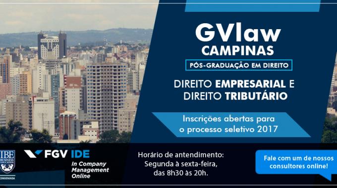 Tradição No Ensino Da FGV, Pós Em Direito Chega A IBE Conveniada FGV Campinas