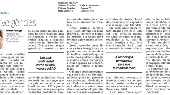 Convergências, Artigo Do Especialista Da FGV, Robson Paniago