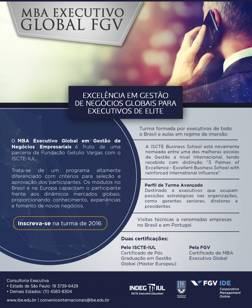 MBA Executivo Global 2016