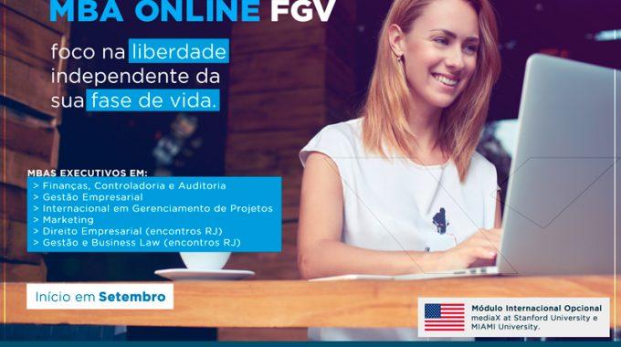 IBE Conveniada FGV OFERECE SEIS PROGRAMAS DE MBA À DISTÂNCIA