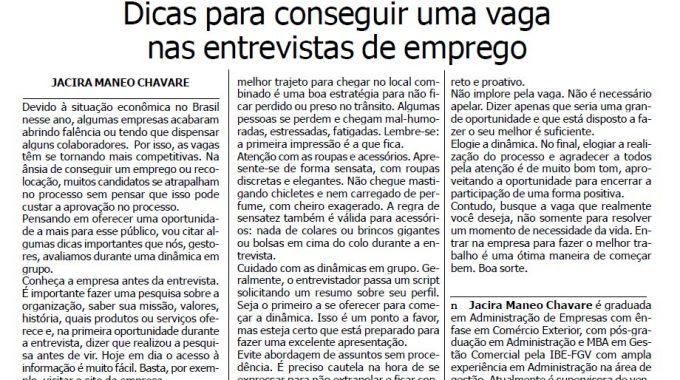 DICAS PARA CONSEGUIR UMA VAGA NAS ENTREVISTAS DE EMPREGO