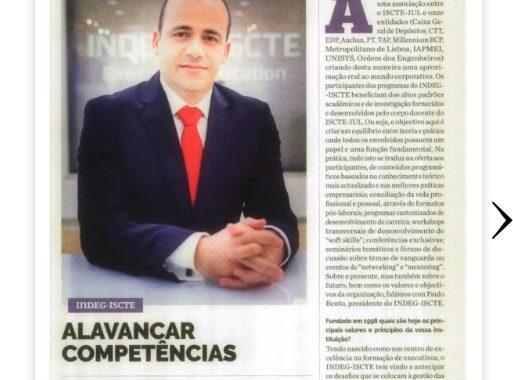 Matéria Com Presidente Do INDEG-ICSTE Lisboa Sobre Competências. Instituição Parceira IBE Conveniada FGV No MBA Executivo Global