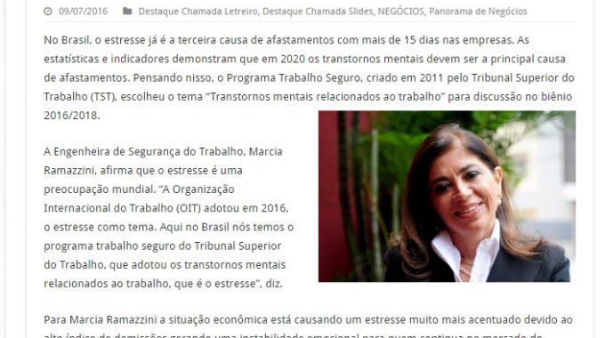 ESTRESSE É A TERCEIRA CAUSA DE AFASTAMENTO DAS EMPRESAS