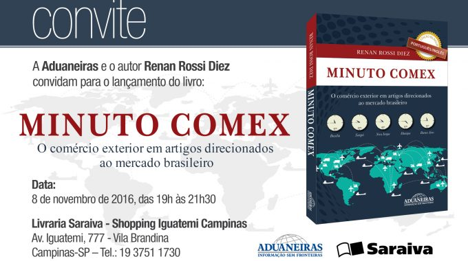 Hoje, Lançamento Do Livro Minuto Comex, Na Saraiva Do Iguatemi