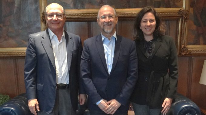 Presidente Heliomar Quaresma Se Reúne Com Governador De São Paulo