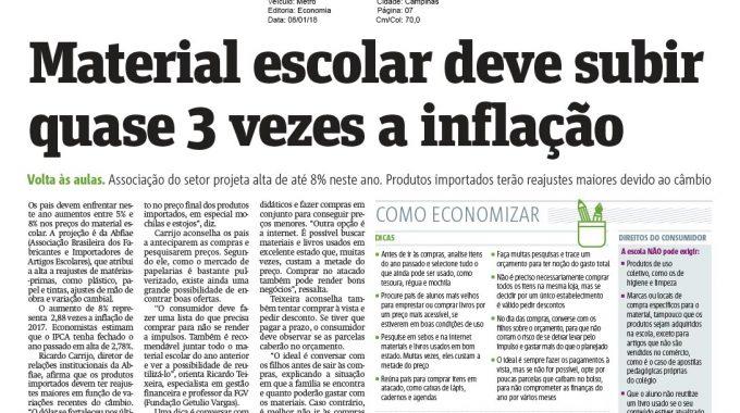 Material Escolar Deve Subir Quase 3 Vezes A Inflação