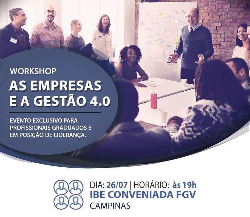 Workshop 4.0: Como Trabalhar No Novo Ambiente Mercadológico?