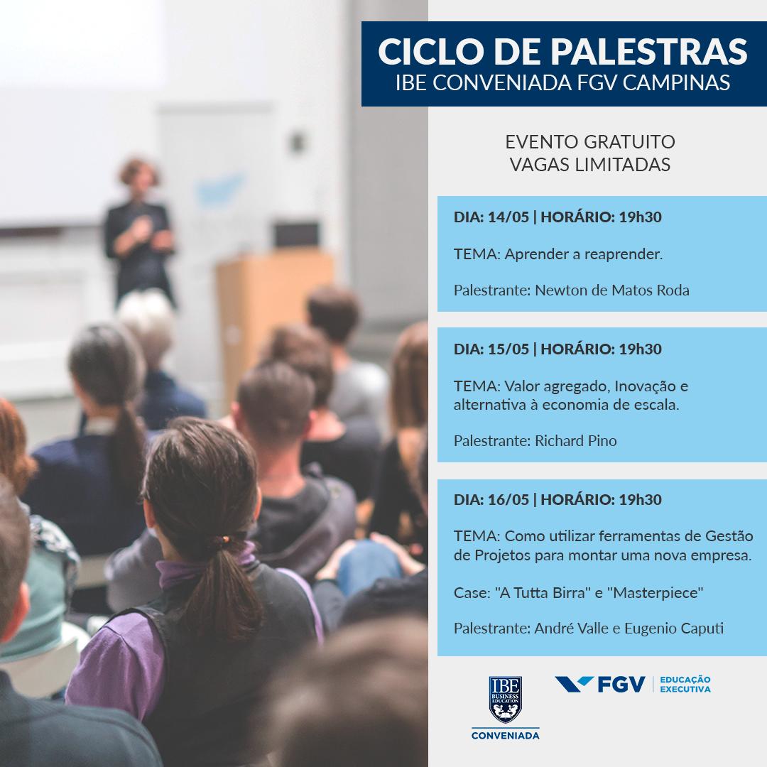 FGV Campinas Oferece Ciclo De Palestras Sobre Negócios, Empreendedorismo E Mindset