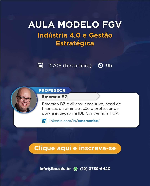 Participe Da Aula Modelo Online Sobre Indústria 4.0 E Gestão Estratégica