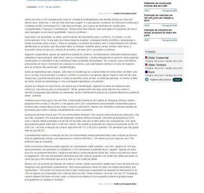 Pauta Com Docente IBE Conveniada FGV é Destaque No Site Monitor Mercantil