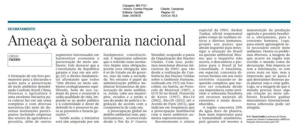 Ameaça à soberania nacional