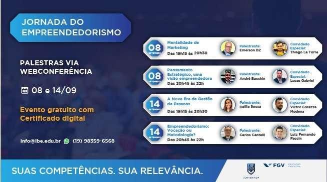 Jornada Do Empreendedorismo Vai Reunir Time De Especialistas Da FGV