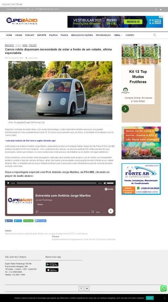 Futuro dos carros